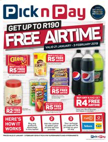 Pick n Pay : Free Airtime (21 Jan - 03 Feb 2019)