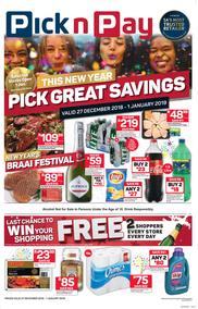 Pick n Pay Western Cape  : Pick Great Savings (27 Dec - 01 Jan 2019)