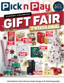 Pick n Pay : Gifting Fair (25 Nov - 08 Dec 2019)