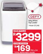 Defy 10kg White Top Loader DTL146