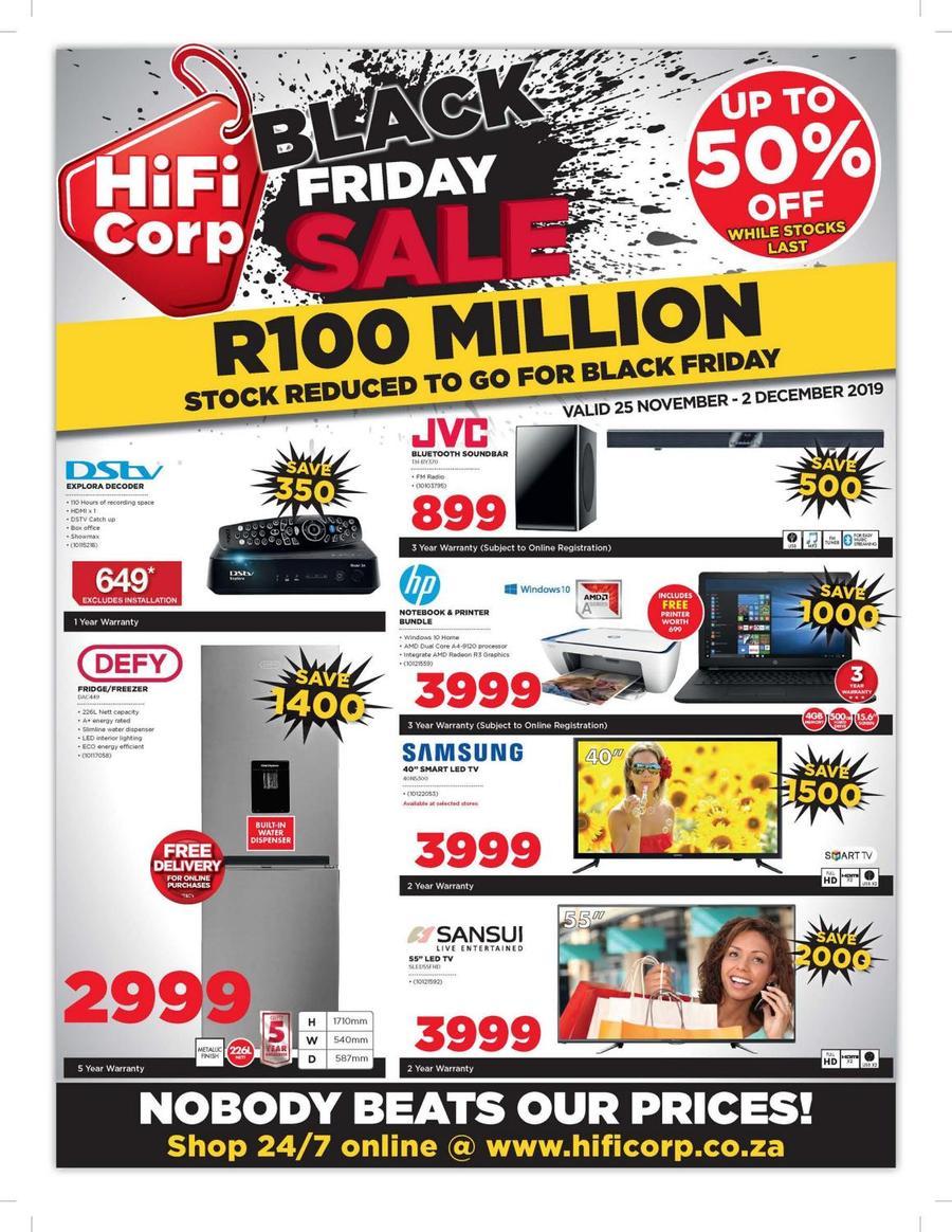 Hifi Corp Black Friday Sale 25 Nov 02 Dec 2019 Www
