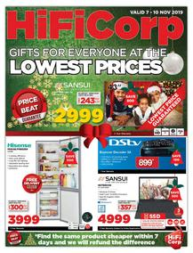 HiFi Corp : Gifts For Everyone At The Lowest Prices (07 Nov - 10 Nov 2019)