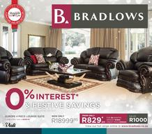 Bradlows : 0% Interest And Festive Savings (14 Nov - 2 Dec 2018)