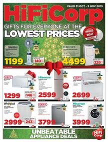 HiFi Corp : Gifts For Everyone At The Lowest Prices (31 Oct - 03 Nov 2019)