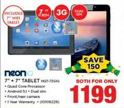 "Neon 7"" + 7"" Tablet NQT-73GIQ-For Both"