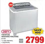 Defy 13Kg Twintub Washing Machine DTT165