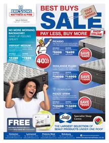Ericssons Mattress And Pine : Best Buys Sale (01 April - 31 August 2021)