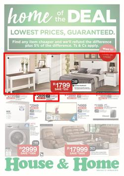 House & Home : Lowest Prices (12 Mar - 24 Mar 2019), page 1