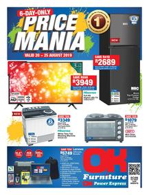 OK Furniture : Price Mania (20 Aug - 25 Aug  2019)