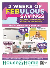 House & Home : Febulous Savings (22 February - 07 March 2021)