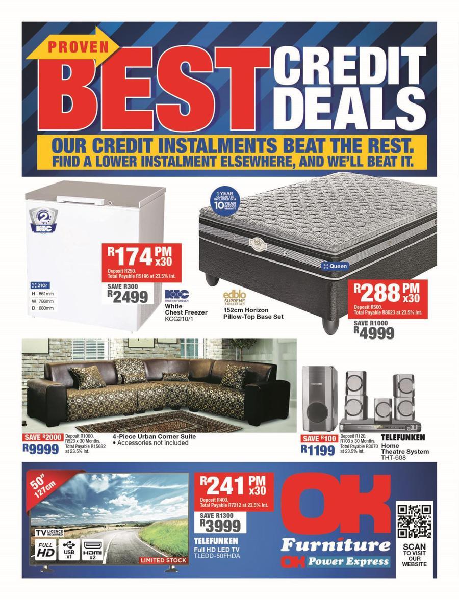 OK Furniture : Best Credit Deals (06 Aug - 18 Aug 2019) — m guzzle co za