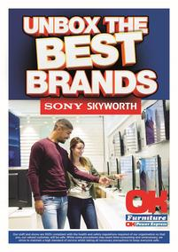 OK Furniture : Unbox The Best Brands Sony & Skyworth (12 April - 30 May 2021)