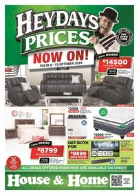 House & Home : Heydays Prices (08 Oct - 13 Oct 2019)