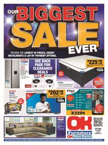 OK Furniture : Our Biggest Sale (22 February - 07 March 2021)