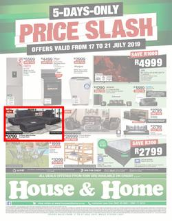 House & Home : Price Slash (17 Jul - 21 Jul 2019), page 1