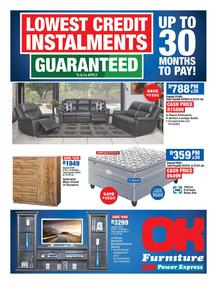 OK Furniture : Lowest Credit Installments (20 Aug - 08 Sep 2019)  (20 Aug - )