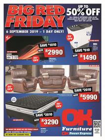 OK Furniture : Big Red Friday (06 Sep 2019 Only!)