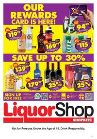 Shoprite Liquor : Our Rewards Card is Here (23 October - 08  November 2020)