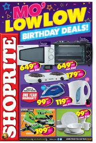 Shoprite Western Cape : Low Low Birthday Promotion (21 Aug - 08 Sep 2019)