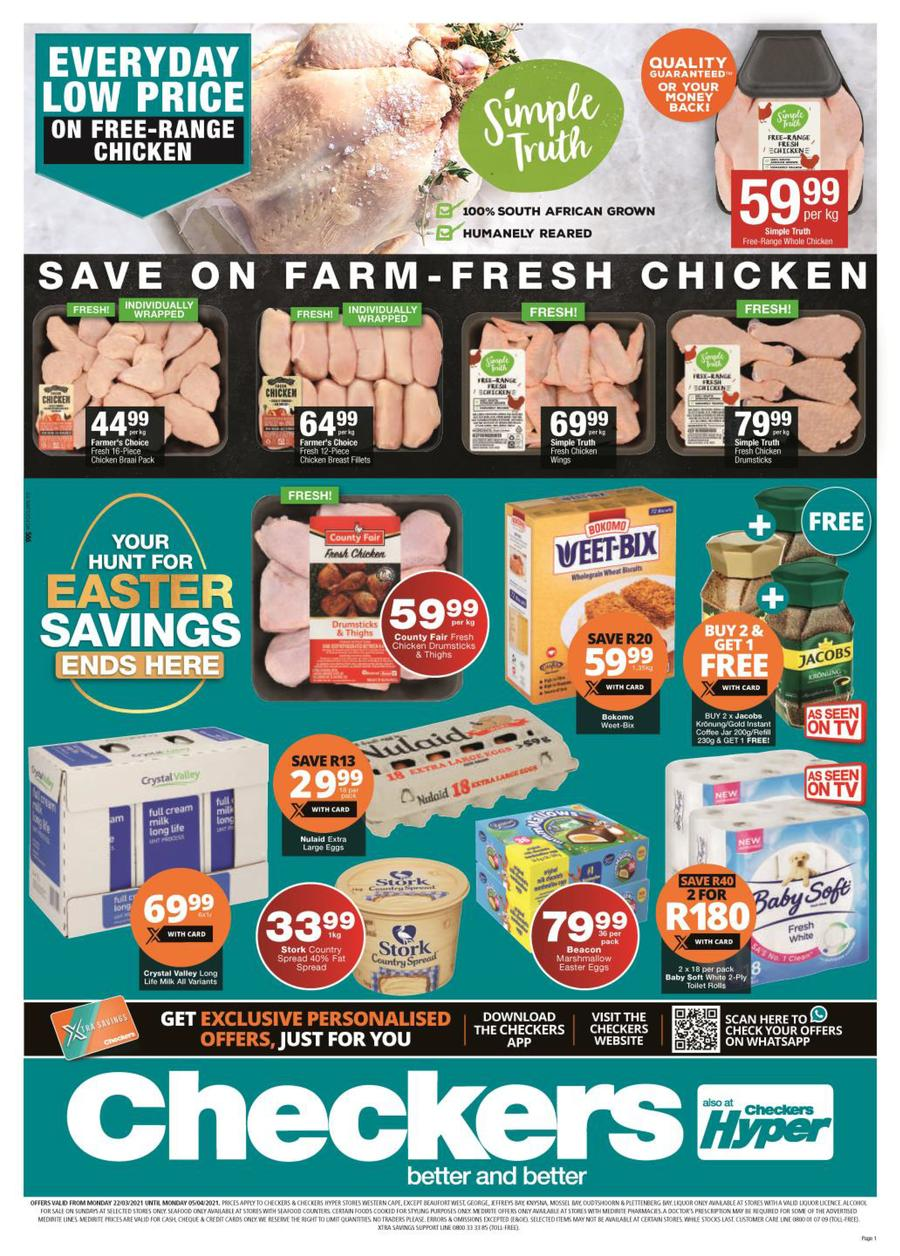 Checkers Western Cape  Easter Specials 10 March   10 April 10 ...