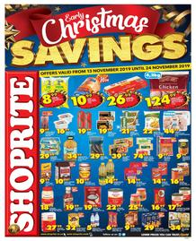 Shoprite Western Cape : Early Christmas Savings (13 Nov - 24 Nov 2019)