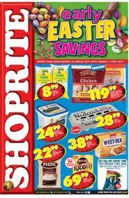 Shoprite Western Cape : Early Easter Savings (25 Mar - 07 Apr 2019)
