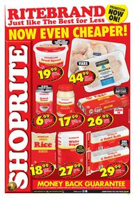 Shoprite Western Cape : Ritebrand Promotion (09 Oct - 20 Oct 2019)