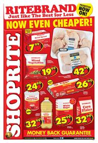 Shoprite Western Cape : Ritebrand Promotion (08 May - 19 May 2019)