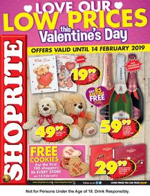 Shoprite Western Cape : Valentine's Day (04 Feb - 14 Feb 2019)