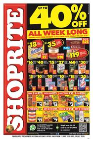 Shoprite Western Cape : Up To 40% Off All Week Long (13 July - 19 July 2020)