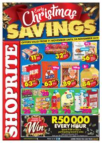 Shoprite KwaZulu-Natal : Early Christmas Savings (11 Nov - 24 Nov 2019)
