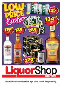 Shoprite KwaZulu-Natal : Liquor Shop Promotion (24 March - 13 April 2020)